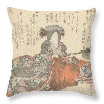 Segawa Kikunojo As Tomoe Gozen Throw Pillow