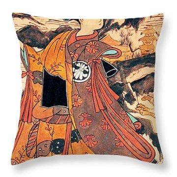 Segawa Kiyomitsu Throw Pillow by Carrie Jackson