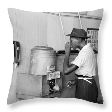 Segregated Drinking Fountain 1939 - Civil Rights Photo  Throw Pillow