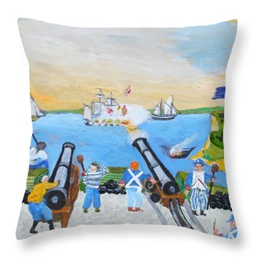 Seige Of Charleston, Sc Throw Pillow