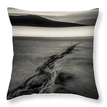 Seilebost Sand Tracks Throw Pillow