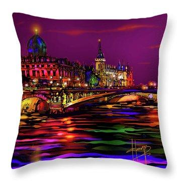 Seine, Paris Throw Pillow