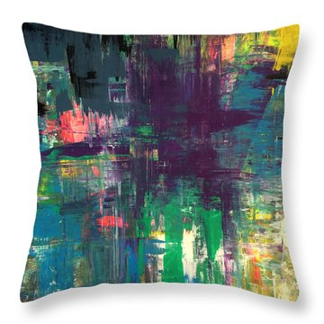 Seize The Day 48x48 Print Abstract Painting Modern Art Original Throw Pillow
