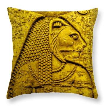 Sekhmet Throw Pillow by Nigel Fletcher-Jones