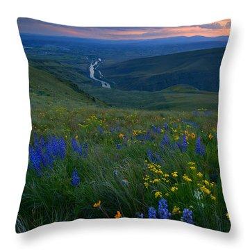 Selah Sunset Throw Pillow by Mike  Dawson