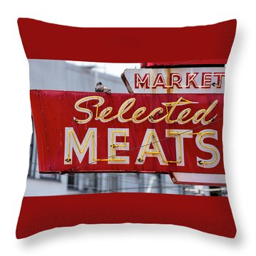 Selected Meats Throw Pillow