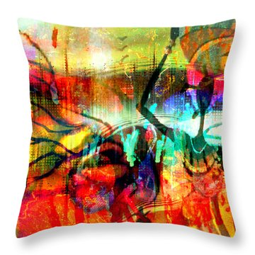 Self Employed Throw Pillow by Fania Simon