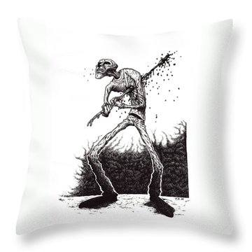 Self Inflicted Throw Pillow by Tobey Anderson