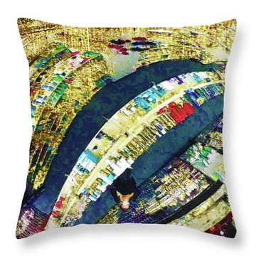 Throw Pillow featuring the mixed media Self Portrait 1 by Tony Rubino