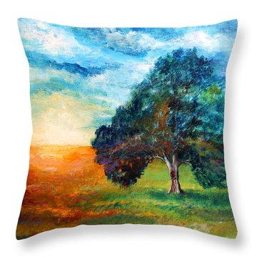 Self Portrait #3 A New Day Throw Pillow