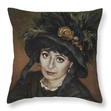 Self-portrait A La Camille Claudel Throw Pillow