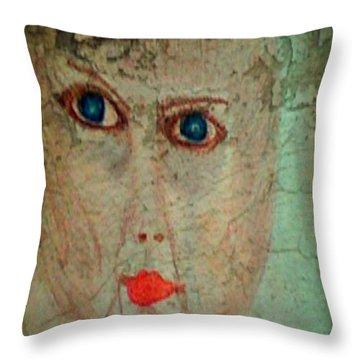 Self-portrait - Aging .... Throw Pillow