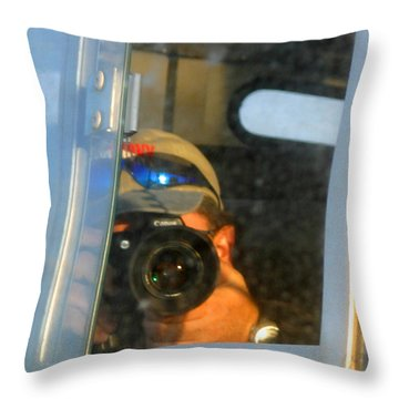 Self Portrait Throw Pillow by Anthony Jones