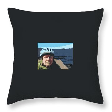 Throw Pillow featuring the photograph Self Portrait by Bill Thomson