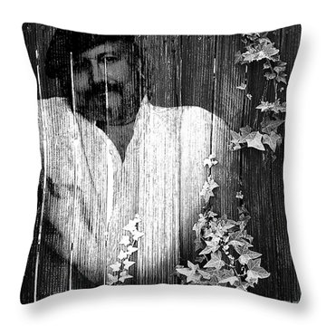 Self Portrait Throw Pillow by Clayton Bruster