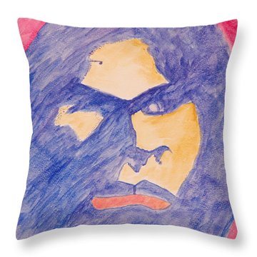 Throw Pillow featuring the painting Self Portrait by Jose Rojas
