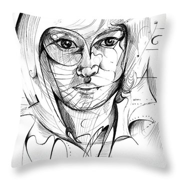 Self Portrait Throw Pillow by Nicholas Burningham