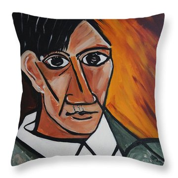 Self Portrait Of Picasso Throw Pillow