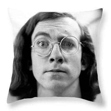 Self-portrait, With Raised Eyebrow, 1972 Throw Pillow