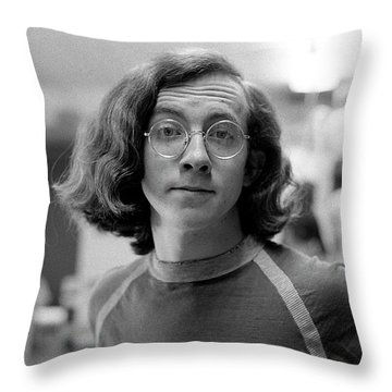 Self-portrait, With Raised Eyebrow, 1972, Number 2 Throw Pillow