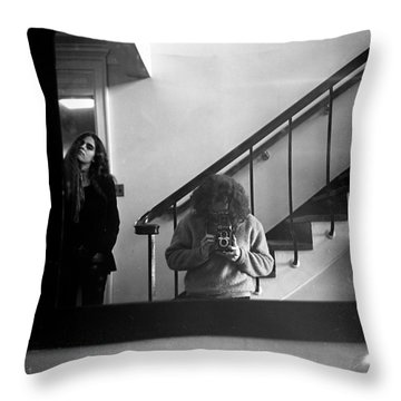 Self-portrait, With Woman, In Mirror, Full Frame, 1972 Throw Pillow