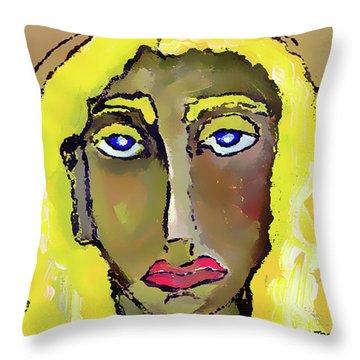 Self Potrait Throw Pillow