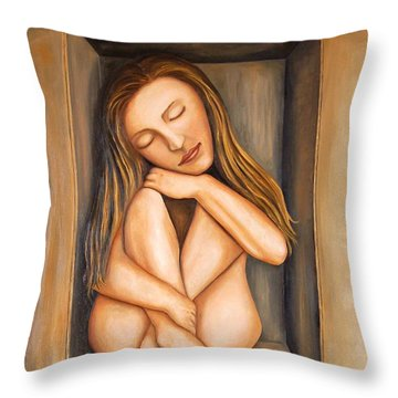Self Storage Throw Pillow by Leah Saulnier The Painting Maniac
