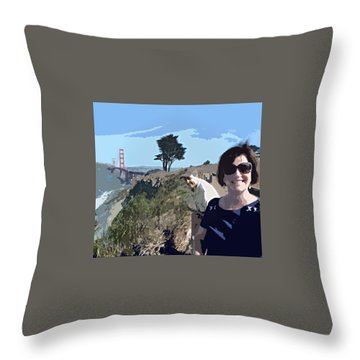 Selfie In San Francisco Throw Pillow