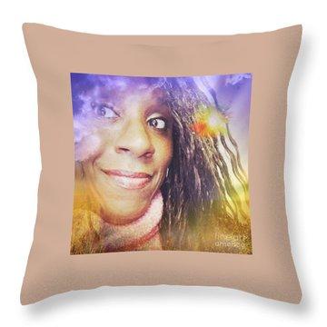 Selfies Portrait  Throw Pillow