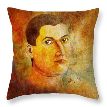 Selfportrait Oil Throw Pillow