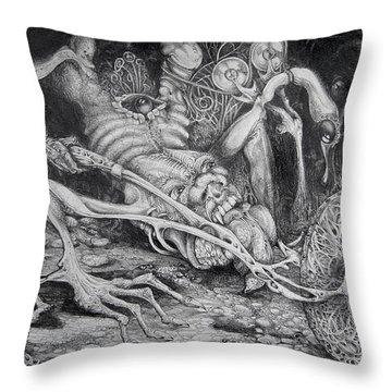 Vienna School Of Fantastic Realism Throw Pillows