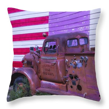 Seligman Fire Dept Engine Throw Pillow