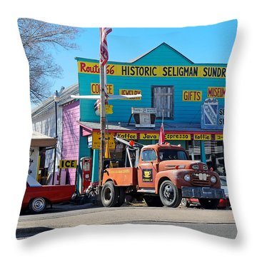 Seligman Sundries On Historic Route 66 Throw Pillow