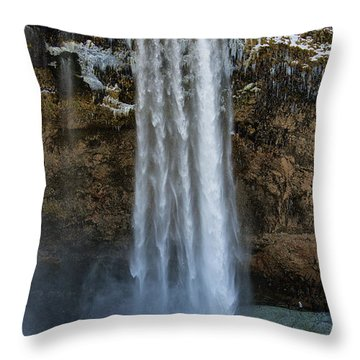 Throw Pillow featuring the photograph Seljalandsfoss Waterfall Iceland Europe by Matthias Hauser