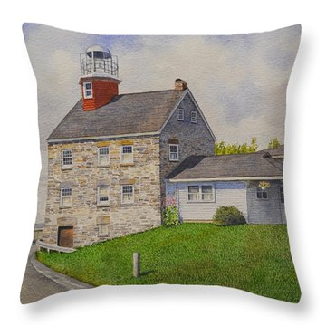 Selkirk Lighthouse Throw Pillow