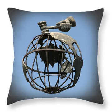 Sell The World Throw Pillow