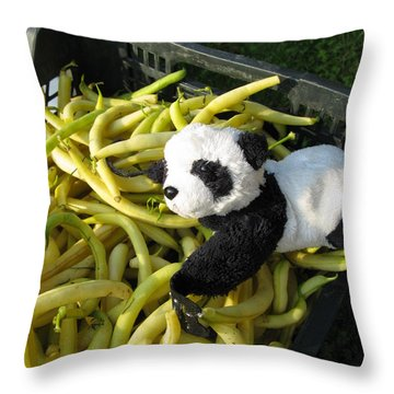 Throw Pillow featuring the photograph Selling Beans by Ausra Huntington nee Paulauskaite