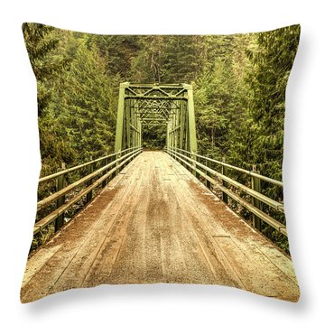 Selway River Bridge Throw Pillow