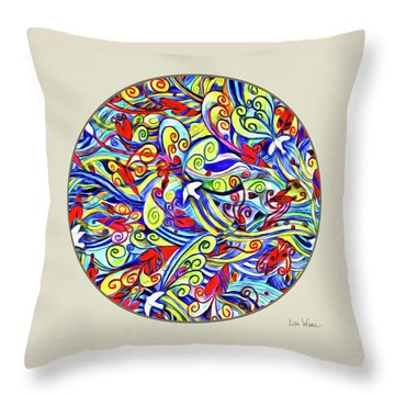 Semi Abstract Paintings Button Throw Pillow
