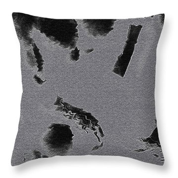 Semi-nude Original Abstract Art Cowboy Throw Pillow