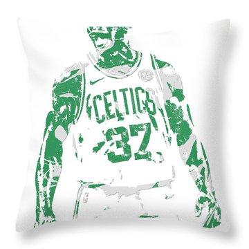 Semi Ojeleye Boston Celtics Pixel Art 1 Throw Pillow