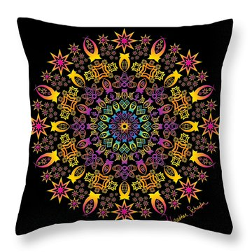 Semi-tribal Rotation Throw Pillow