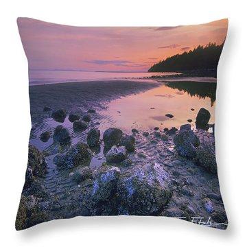 Semiahmoo Bay Throw Pillow by Tim Fitzharris