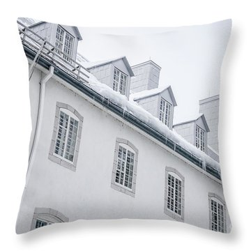 Seminary Of Quebec City In Old Town Throw Pillow