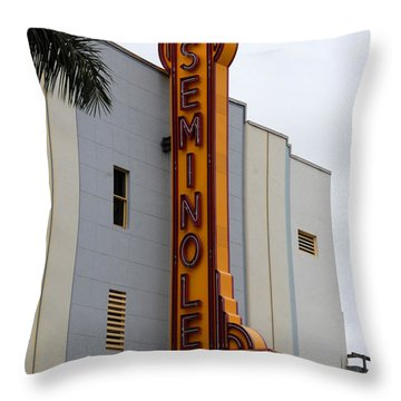 Seminole Theatre 1940 Throw Pillow by David Lee Thompson