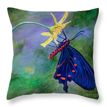 Semperi Swallowtail Butterfly Throw Pillow