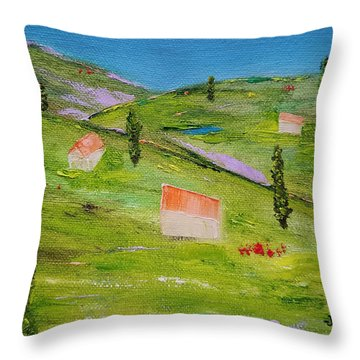 Throw Pillow featuring the painting Semplicita by Judith Rhue
