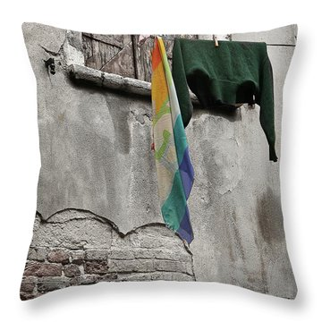 Throw Pillow featuring the photograph Semplicita - Venice by Tom Cameron
