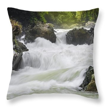 Throw Pillow featuring the photograph Semuch-champey River And Waterfalls by Yuri Santin
