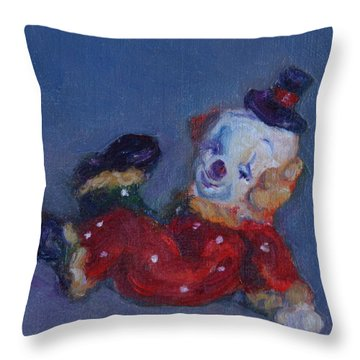 Send In The Clowns Throw Pillow